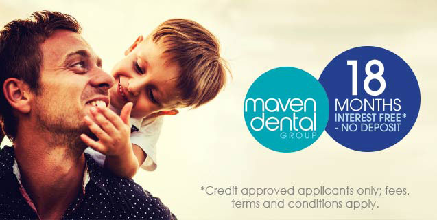 18 Months Interest Free* Finance available at Cannon Hill Dental, proudly part of Maven Dental Group